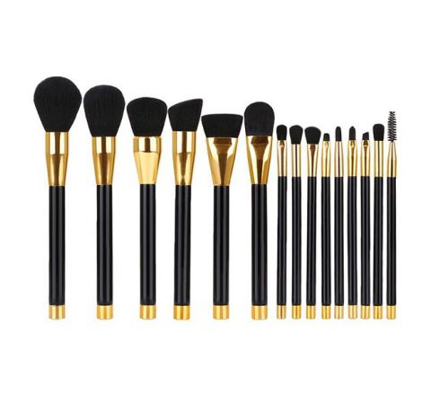 BESTOPE Makeup Brush Set - Rose Gold (15 Piece)