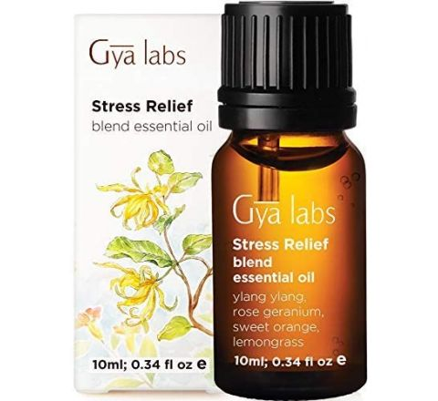 Gya Labs Stress Relief Essential Oil Blend - Rose Geranium