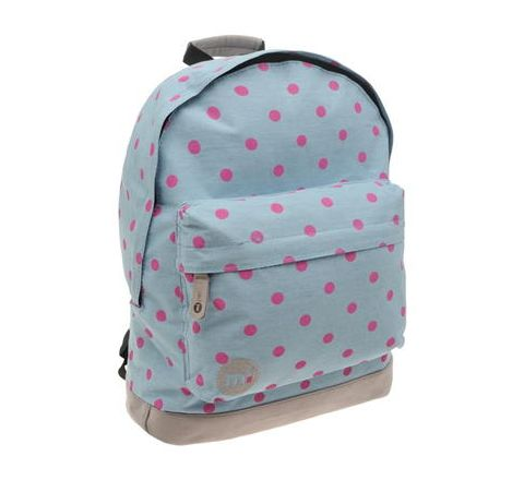 Denim Polka Dot Backpack By Mi Pac