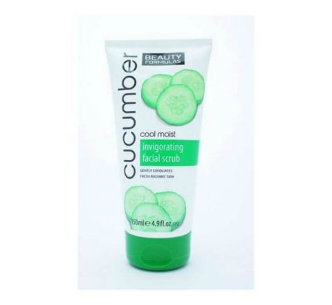 Beauty Formulas Cucumber Cool Moist Invigorating Face Scrub - 150ml