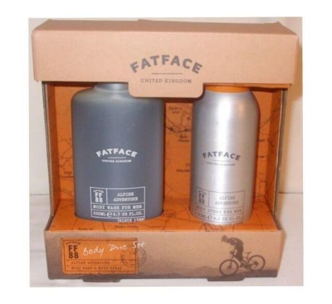 Mens Fat Face Duo Gift Set Hair / Body Wash & Body Spray
