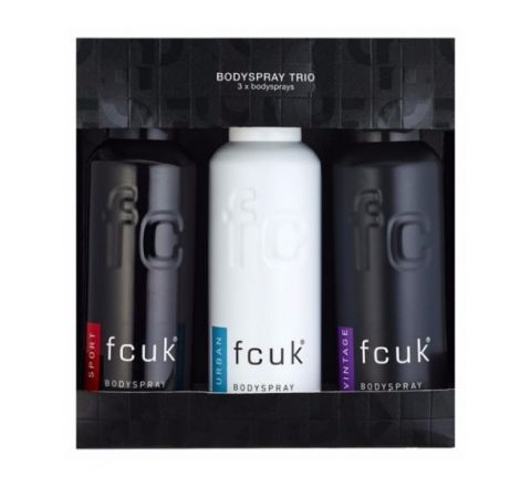 FCUK (French Connection UK) Bodyspray TRIO - 3 Body Sprays