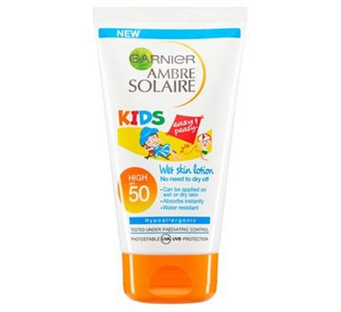 Garnier Ambre Solaire Kids Sensitive Sun Cream Very High Protection SPF50 50ml