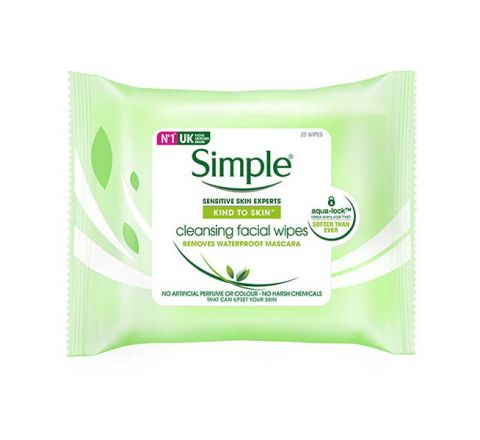 Simple Kind To Skin Facial Cleansing Wipes 25 wipes