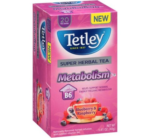 Tetley Vitamin B - Blueberry And Raspberry 20 Tea Bags