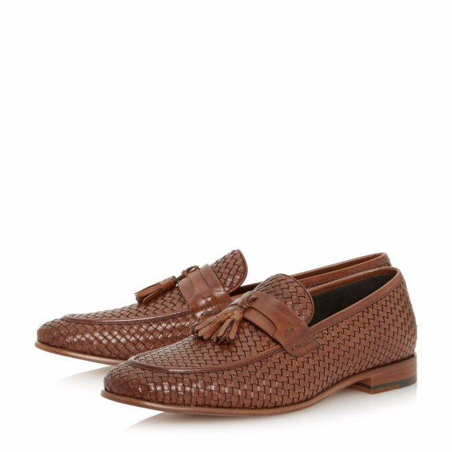 5d1eec13e0a Paolo Woven Tassel Loafer Shoe - Dune London