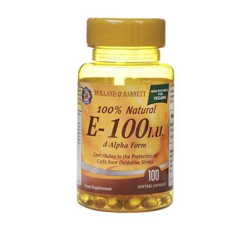Holland & Barrett Vitamin E 100 Capsules 100iu