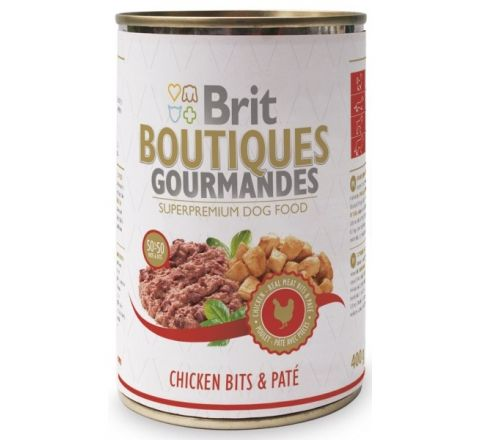 Brit Boutiques Gourmandes Chicken Bits & Pate 400gm