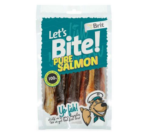 Brit Lets Bite Pure Salmon 80gm