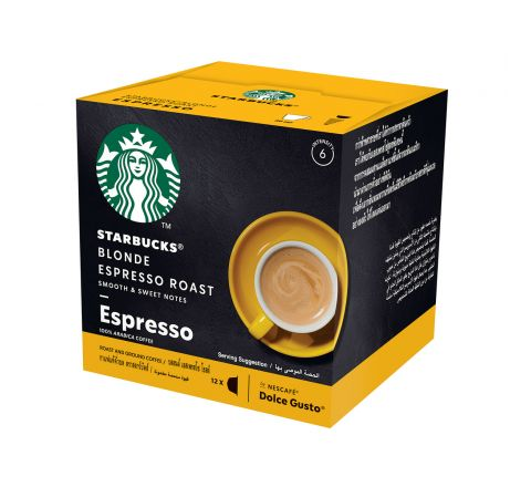 STARBUCKS Blonde Espresso Roast Coffee Pods by NESCAFE Dolce Gusto 12 per pack