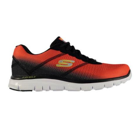 Skechers Flex Advantage Mens Trainers - Red Black