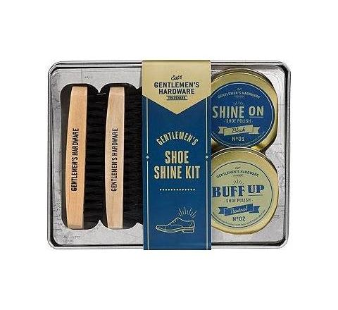 Gentlemen's Hardware Shoe Shine Kit In Tin
