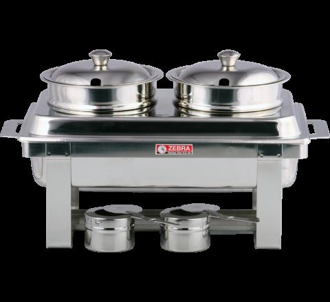 Zebra Soup Warmer Set Twin Pot 240660
