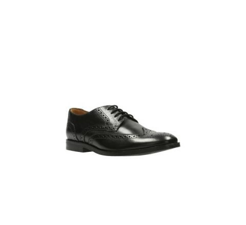 Black Leather Broyd Limit - Clarks