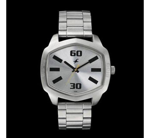 Fastrack Stainless Steel Analog Watch For Men - Silver