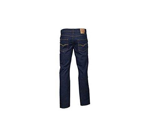 LCJ Denim Men's Comfort Fit Stretch Regular Jeans Black Blue Indigo Lc28