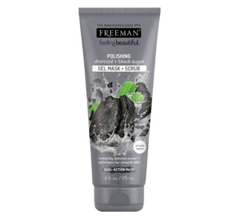 FREEMAN Charcoal & Black Sugar Gel Mask & Scrub 175ml