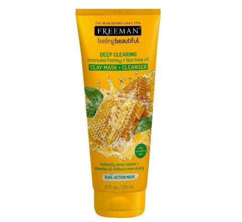FREEMAN Deep Clearing Manuka Honey & Tea Tree Clay Mask 175ml