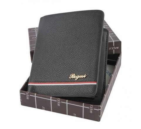 Leather Card Holder & Wallet for Men- Black