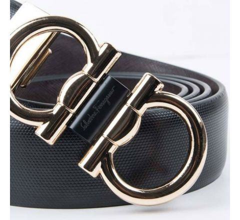 Artificial Leather Stylish Belt- Black