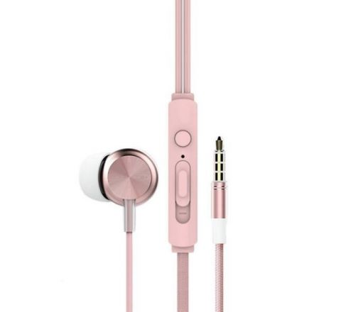 Rock Y2 Stereo Earphone - Rose Gold