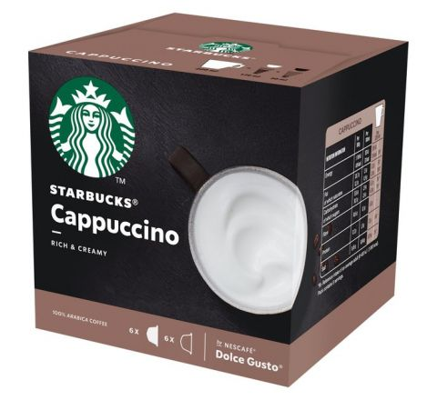 STARBUCKS Cappuccino By Nescafe Dolce Gusto Coffee Pods, 12 Capsules