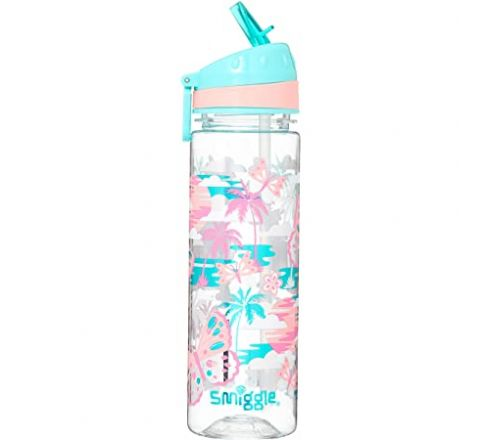 Smiggle Smiggler Kids Water Drink Bottle for Boys & Girls with Flip Top Spout and 650ml Capacity   Rainbow