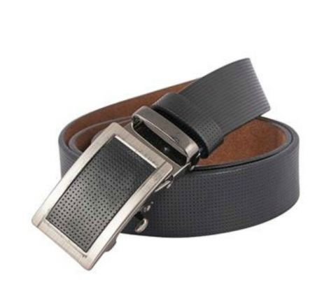Mix leather Waist Belt- Black