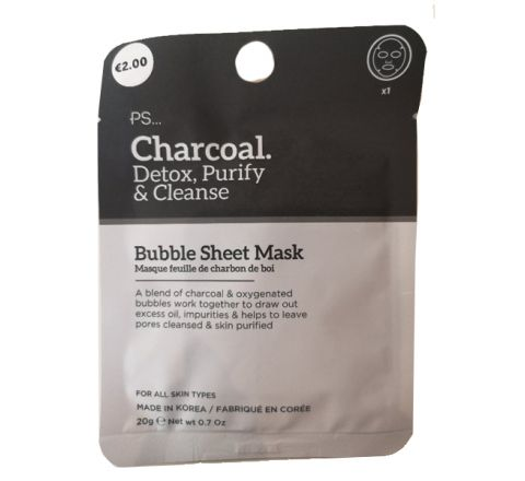 PS Charcoal Bubble Sheet Mask 20g