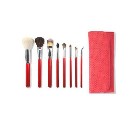 Morphe 700 8 Piece Candy Apple Red Brush Set