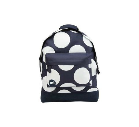 Black Polka XL Backpack by Mi Pac