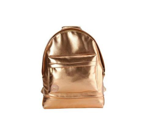 Metal Small Backpack by Mi Pac - Rose Gold