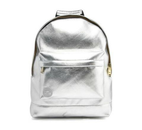 Metal Small Backpack by Mi Pac - Silver