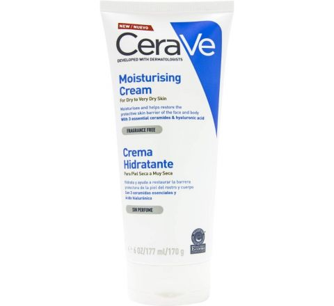 CeraVe Dry and Very Dry Skin Moisturizing Cream, 170 ml