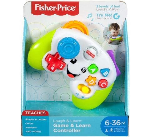 Fisher-Price FWG12 Game and Learn Controller, Teaching First Words, Letters, Numbers, Colours and Shapes with Songs and Sounds, 6 Months