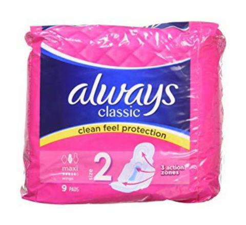 Always Classic Maxi Sanitary Pads/Towels With Wings Pack Of 9