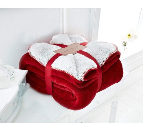 UAREHOME Large Soft Warm Fleece Cuddly Flannel Sherpa Throw Sofa Double King Bed Blanket