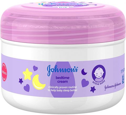 JOHNSON'S Bedtime Cream 200ml – Leaves Skin Soft and Smooth – Natural Calm Aromas