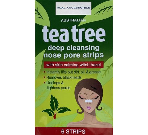 Tea Tree Nose Pore Strips - Pack of 6