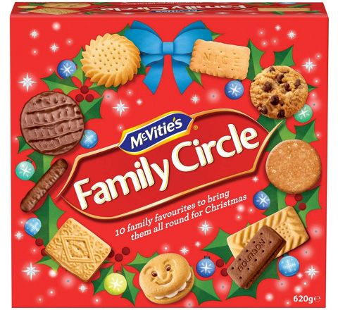 McVities Family Circle Assorted Biscuits 670g (1 Pack)
