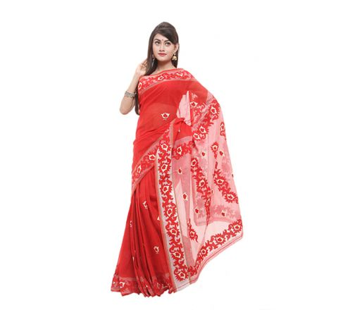 Cotton with Cut-work Applique Saree 829