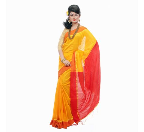 Andy Silk with Cut-work Applique Embroidery Saree 916