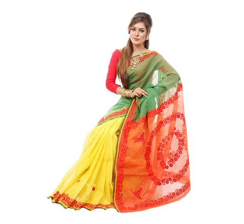 Andy Silk with Cut-work Applique Embroidery Saree 940