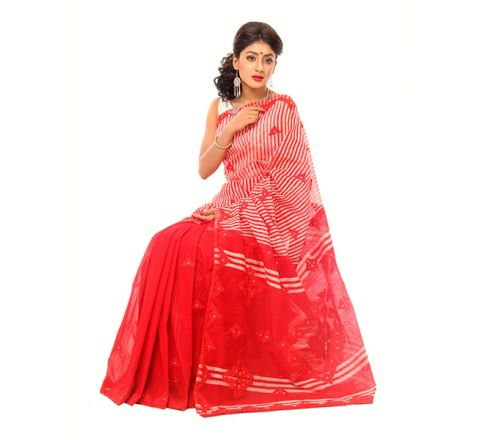 Andy Silk with Cut-work Applique Embroidery Saree 949