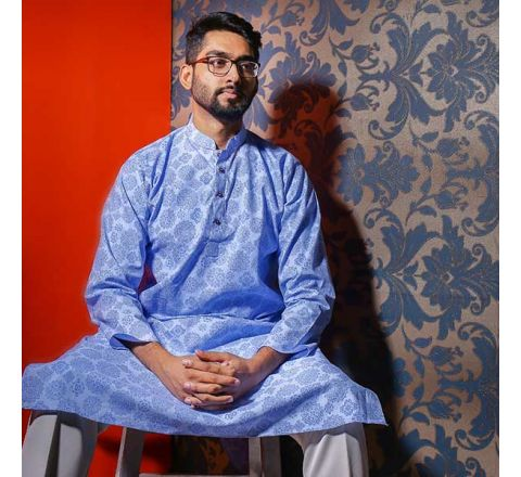 Eid Exclusive Blue en's Panjabi