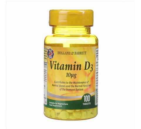 Holland & Barrett Vitamin D3 100 Tablets 10ug