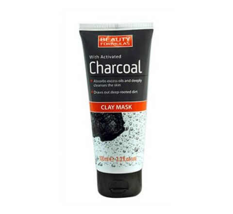 Beauty Formulas Clay Mask with Activated Charcoal - 100ml