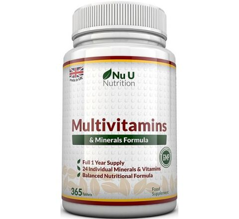 Multivitamins & Minerals Formula - 365 Tablets by Nu U Nutrition