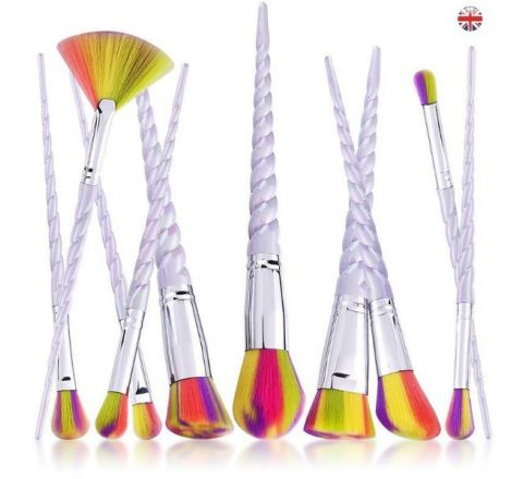 Colorful 10pcs Kabuki Brush Set