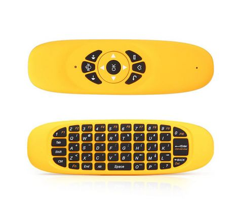 GYROSCOPE FLY AIR MOUSE C120 WIRELESS GAME KEYBOARD - YELLOW